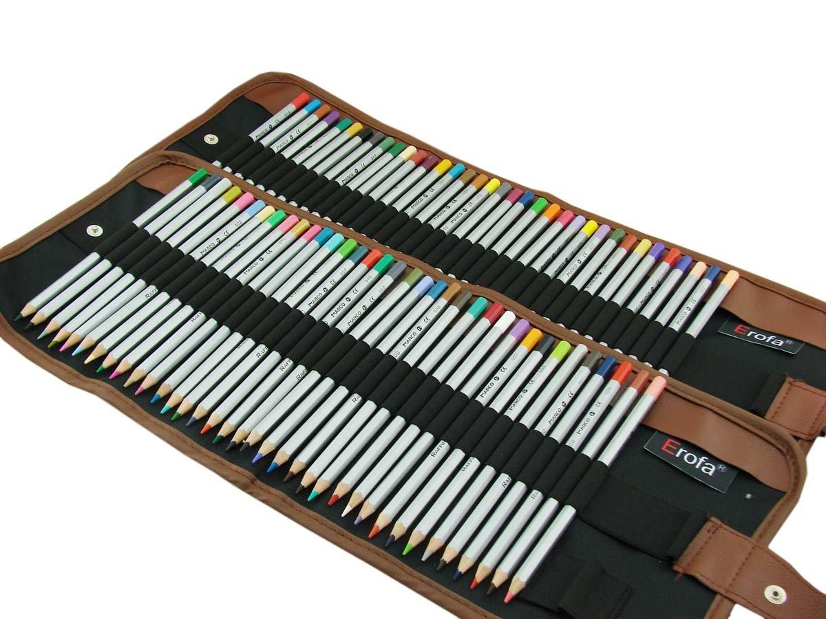 Color art colored pencils - Erofa Marco 72 Color Art Colored Pencils Drawing Pencils For Secret Garden Pencil Pouch Artist Sketch Set