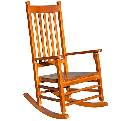 "official photos 26556 6f9ab Merax WF038137DAA Solid Wood Country Plantation Porch Rocking Outdoor Patio  Chair, 24.8""WX 32.5""DX 43.7""H"