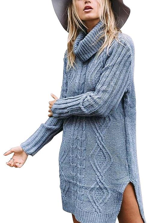 OversizedWomens Sweater Dresses Winter | LooseTurtleneck Sweater Dress Women