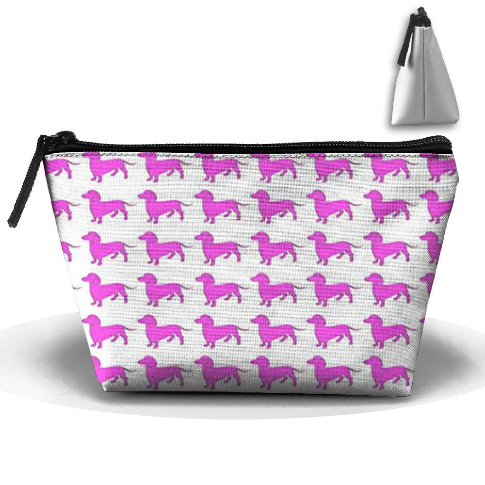 SDEYR79 Weiner Dog Pink Dachshund Travel Kit Organizer Bathroom Storage Cosmetic Bag Carry Case Toiletry Bag