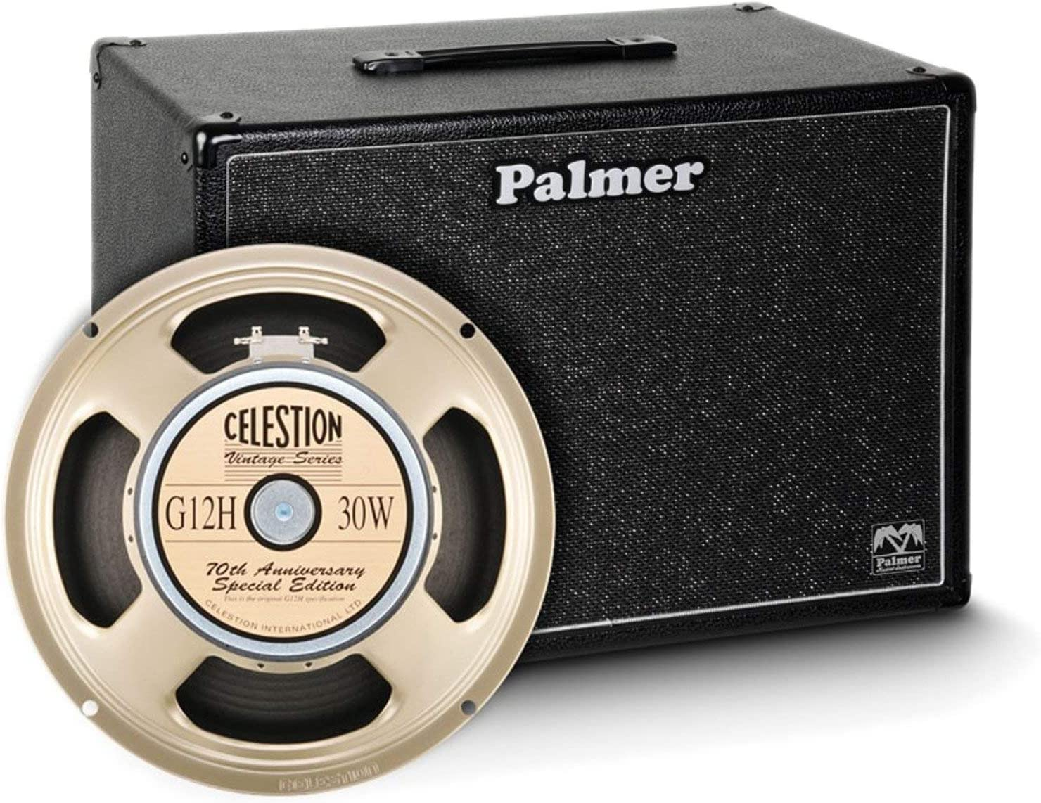 Palmer &apos guitarras Box 1x 12Celestion G12H Anniversary Model 8Ω