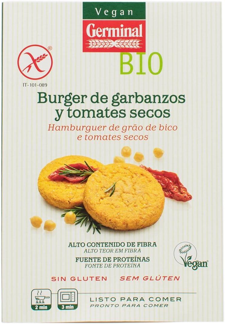 GERMINAL Burger de Tomates Secos y Garbanzos Bio, 180g ...
