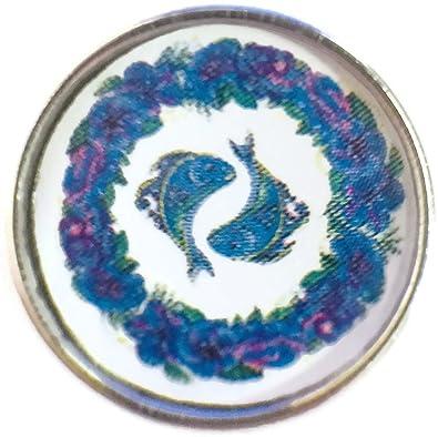 Pisces Fish Art Zodiac Sign Horoscope Symbol 18MM