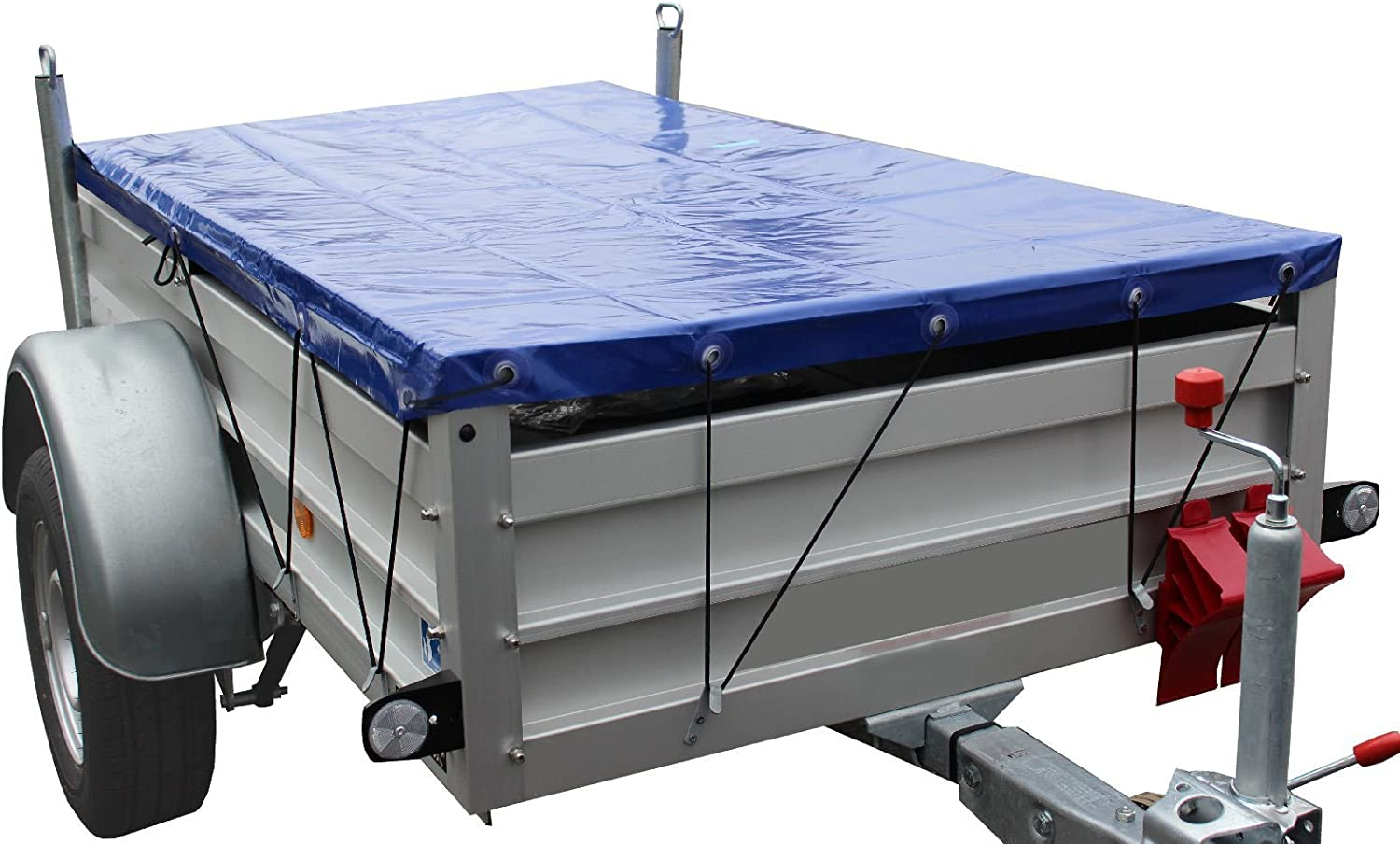 Trailer tarpaulin with elastic strap blue 2575 x 1345 x 50/ mm fabric cover