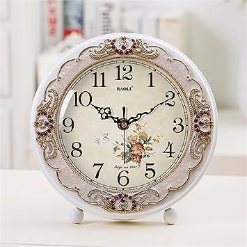 Salón Moderno Creative Reloj de sobremesa Elegante Dormitorio Dormitorio Dormitorio Tranquilo Simple Reloj, un: Amazon.es: Hogar