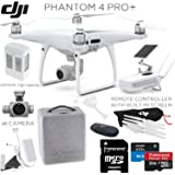 DJI Phantom 4 Pro+ (Pro Plus) Quadcopter, DJI CP.PT.000549, w/ Pro+ Bundle: Includes Remote with Built in Monitor, High Capacity Intelligent Flight Battery (5870mAh), 32GB MicroSD card and more