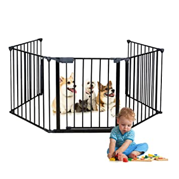 Large Baby Gate Playard Toddler Safty Barrier Fireplace Staieway Guard Enclosure
