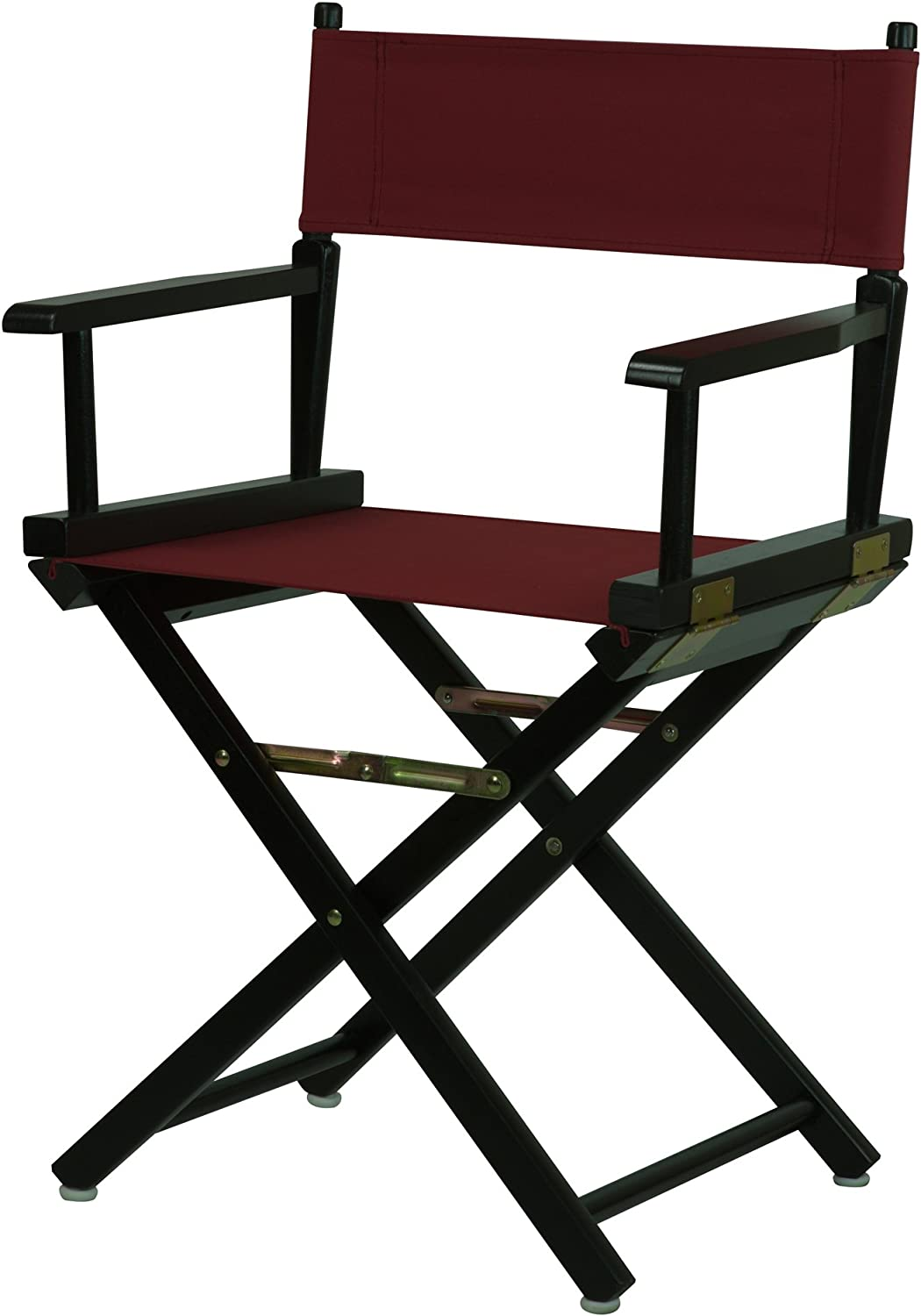 "Casual Home 18"" Director's Chair Black Frame with Burgundy Canvas"