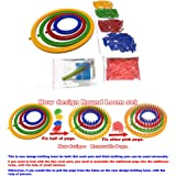 Round Knitting Loom board Set of 4 looms for Hats, Bags, Socks, Legwarmers, Wristwarmers, Cowls, and Scarves Craft Kit Tool with Hook Needle with pegs unfitted/ flat package