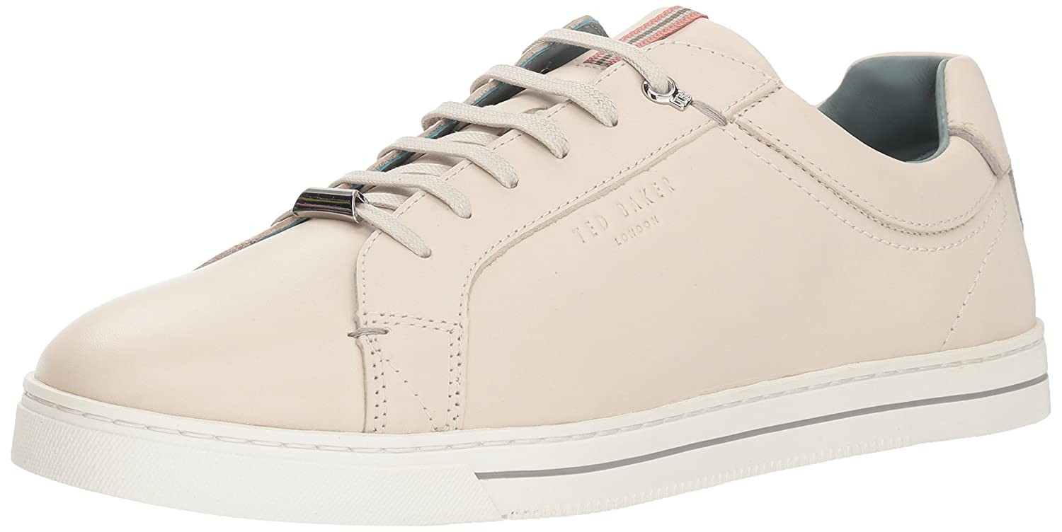White Leather Ted Baker Mens Thawne Sneaker