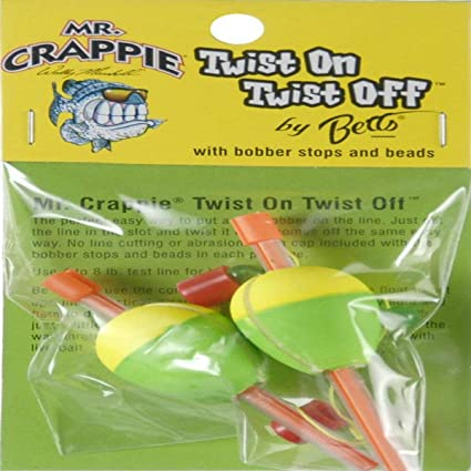 """RP3-3YG 1/"""" YELLOW//GREEN 3 PER PACK CRAPPIE RATTLIN ROUND FLOATS MR"""