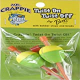 Betts Mr Crappie Unwgt Pear Fishing Equipment, 1 1/4 oz, Pear