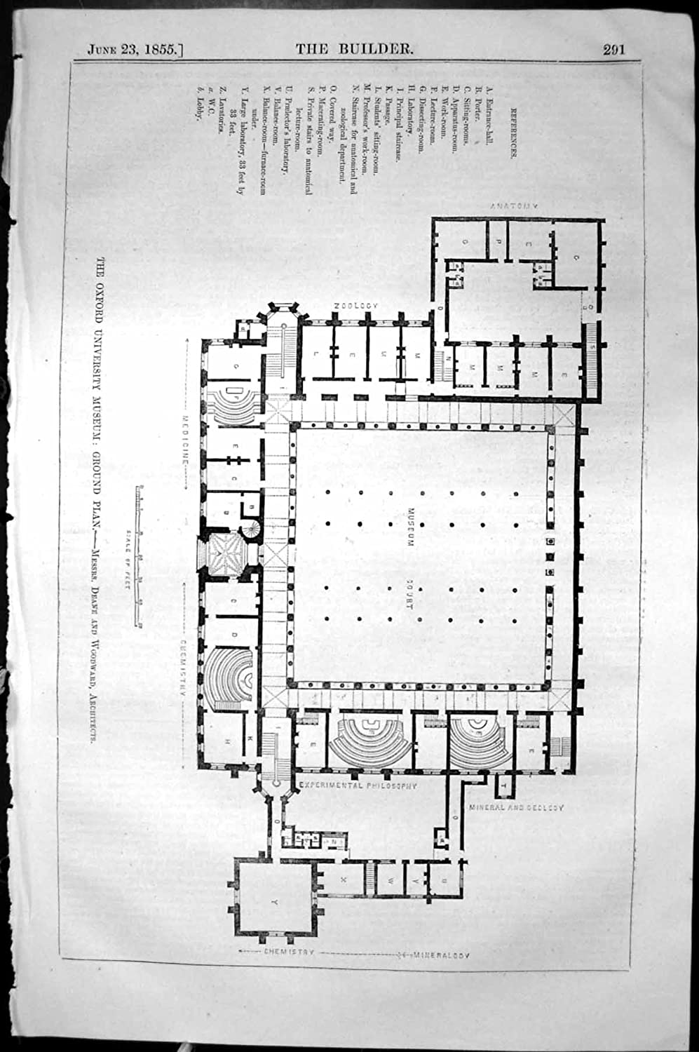 Ground Plan Oxford University Musuem Deane Woodward Chemical Furnace Schematic Architecture 291l113 Prints Posters