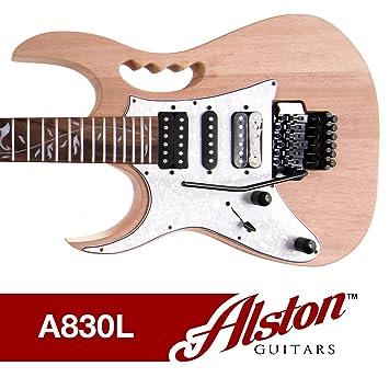 Alston - Guitarra para zurdos | - Kit de Guitarra Eléctrica | Perno En el cuello. | Caoba Sólida y mástil de arce | A830L: Amazon.es: Instrumentos musicales