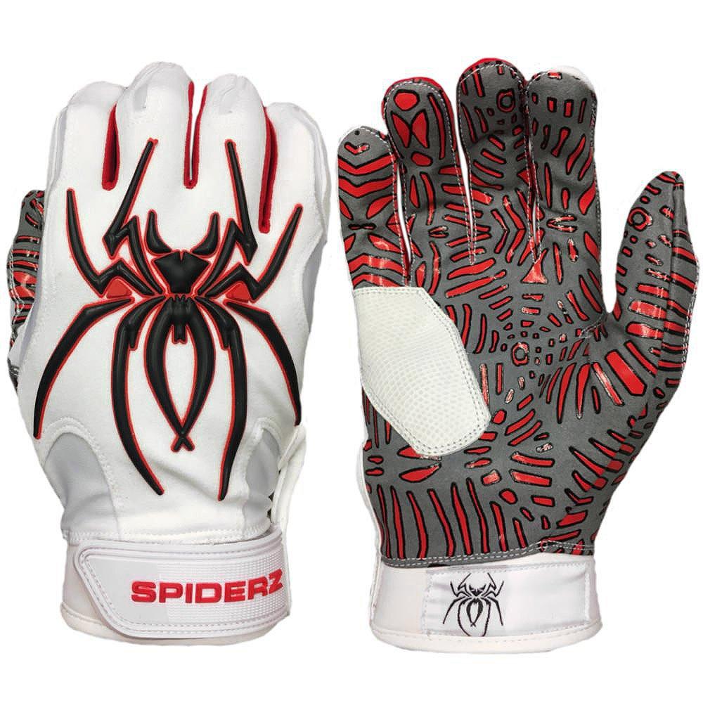 SpiderzハイブリッドTac Palm野球/ソフトボールバッティング手袋 B07BN37S2T XX-Large ブラックウィドウ(Black Widow) ブラックウィドウ(Black Widow) XX-Large