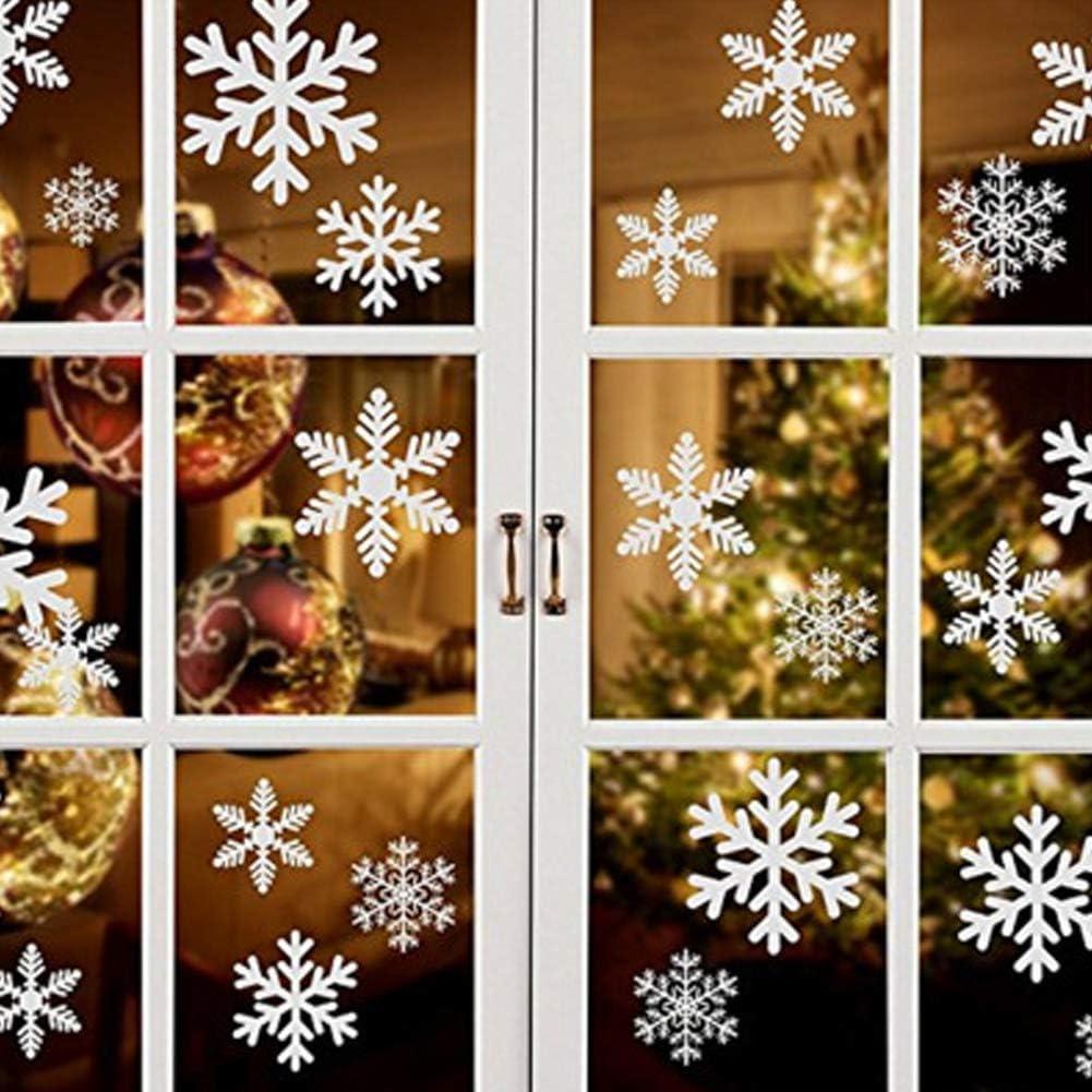 Winter Snowflake Wall Window Sticker White Frozen Snow Flakes Christmas Decor
