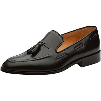 Amazon.com | 3DM Lifestyle Men's Tassel Slip-On Leather Loafer US 8-8.5 Black | Loafers & Slip-Ons