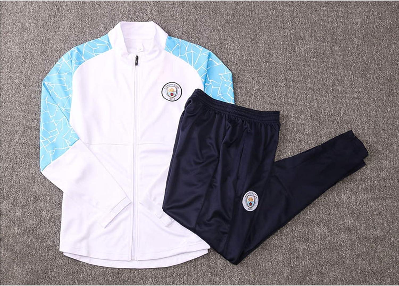 Herren-Fu/ßball-Trainingsanzug und Hose Set TIANM 2020-21 Manchester City Fu/ßball-Trainingsanzug Geschenk f/ür einen Freund Trainingsanzug 2 St/ück Sets Verein Uniform Wettbewerb Anzug