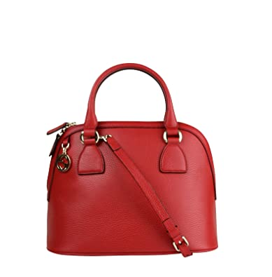 91f400513c7d Amazon.com: Gucci GG Charm Red Leather Medium Convertible Dome Bag 449662  6420: Shoes