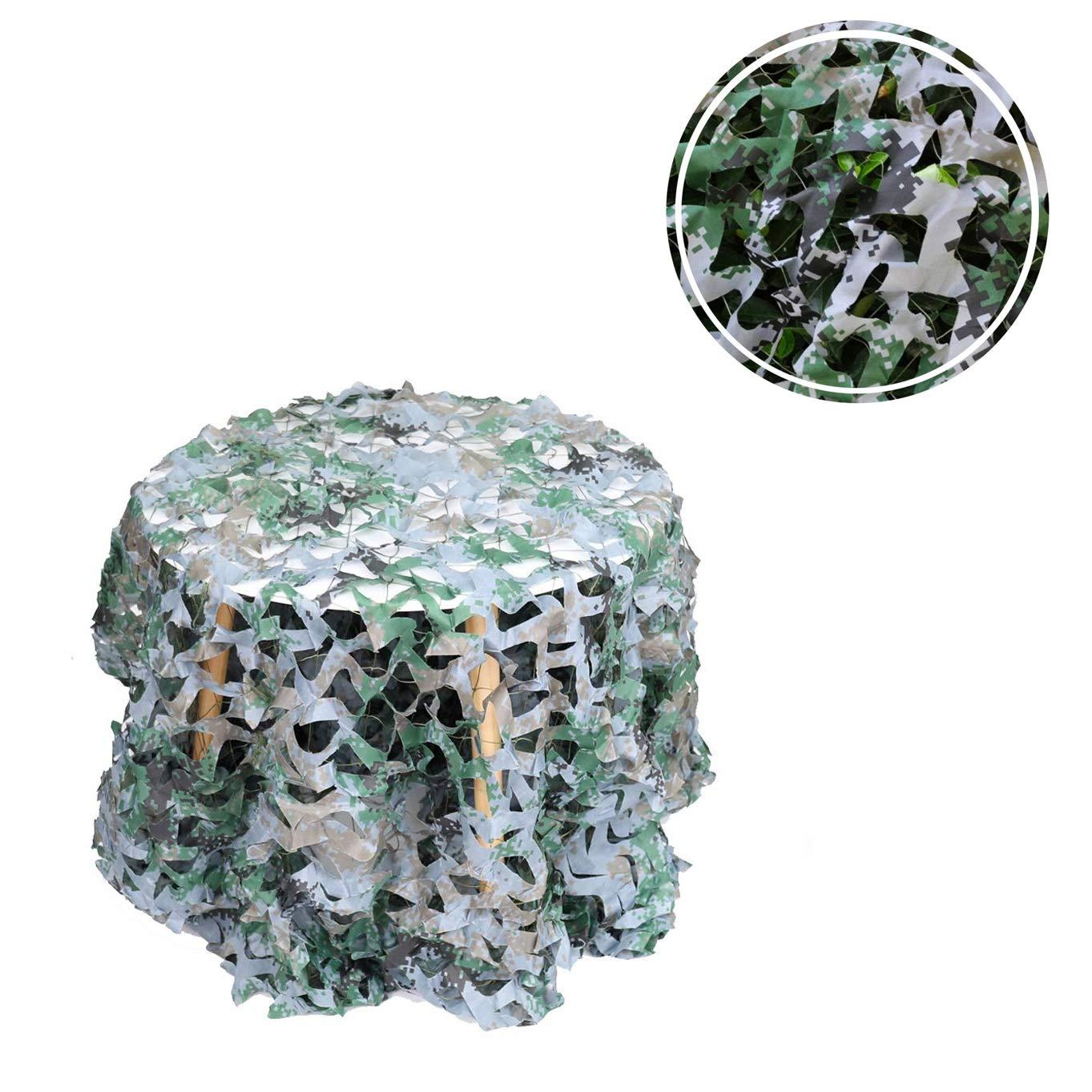 23M Filet de Camouflage Auvents Renforcé 3x3 4x3m Filet d'ombrage Filet Solaire Filet de Prougeection Solaire Voiles de BÂche de Tente for Camping Extérieur avec Clôture Plusieurs Tailles Vert Jungle