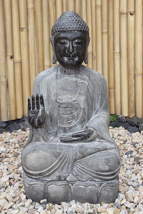 Asia Lifestyle - Estatua de Buda para jardín (70 cm, Piedra Natural): Amazon.es: Jardín