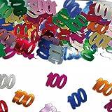 Variopinto brillanti Confetti con Numeri Compleanno: 100 // Lattina Con 15g (ca.. 1000 singoli Confetti's) // Decorativo Decorazione Da Tavolo Anniversario Confetti Con Numeri Confetti In Metallo Confetti Da Lanciare Compleanno Compleanno