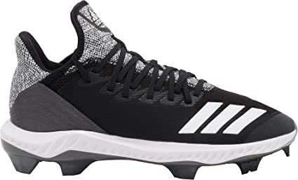 the latest 788b1 64f85 adidas Men s ICON Bounce Hybrid TPU Baseball Cleats (Black White, 6.5 D(