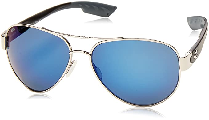 9738c21ada Costa Del Mar SO 21 South Point Palladium Square Sunglasses for Mens - Size  580P (Blue Mirror Lens)  Amazon.co.uk  Clothing