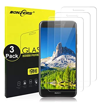 NONZERS 3-Pack Cristal Templado para Huawei P8 Lite Vidrio ...