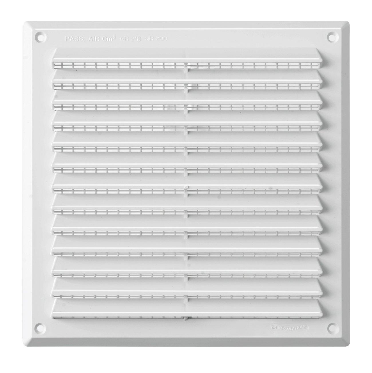 La Ventilazione AR2323M Griglia Plastica Rettangolare da Sovrapporre Marrone 227 x 227 mm