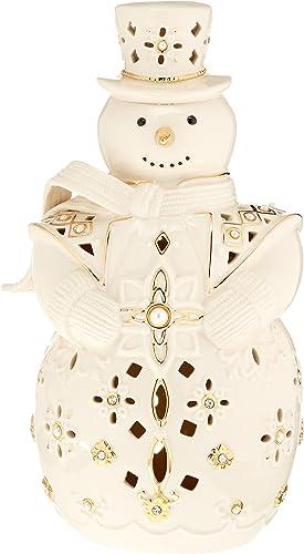 Lenox 867256 Florentine Pearl Snowman Lit Figurine