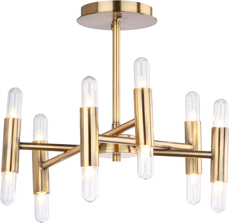 Safavieh Flu4008a Collection Fidelma Mount Flush Light Gold