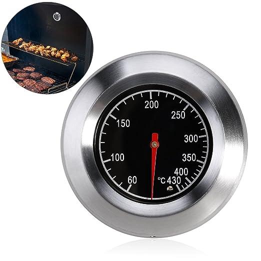 Compra BESTOMZ horno leña bimetálico y horno horno barbacoa termómetro analógico en Amazon.es