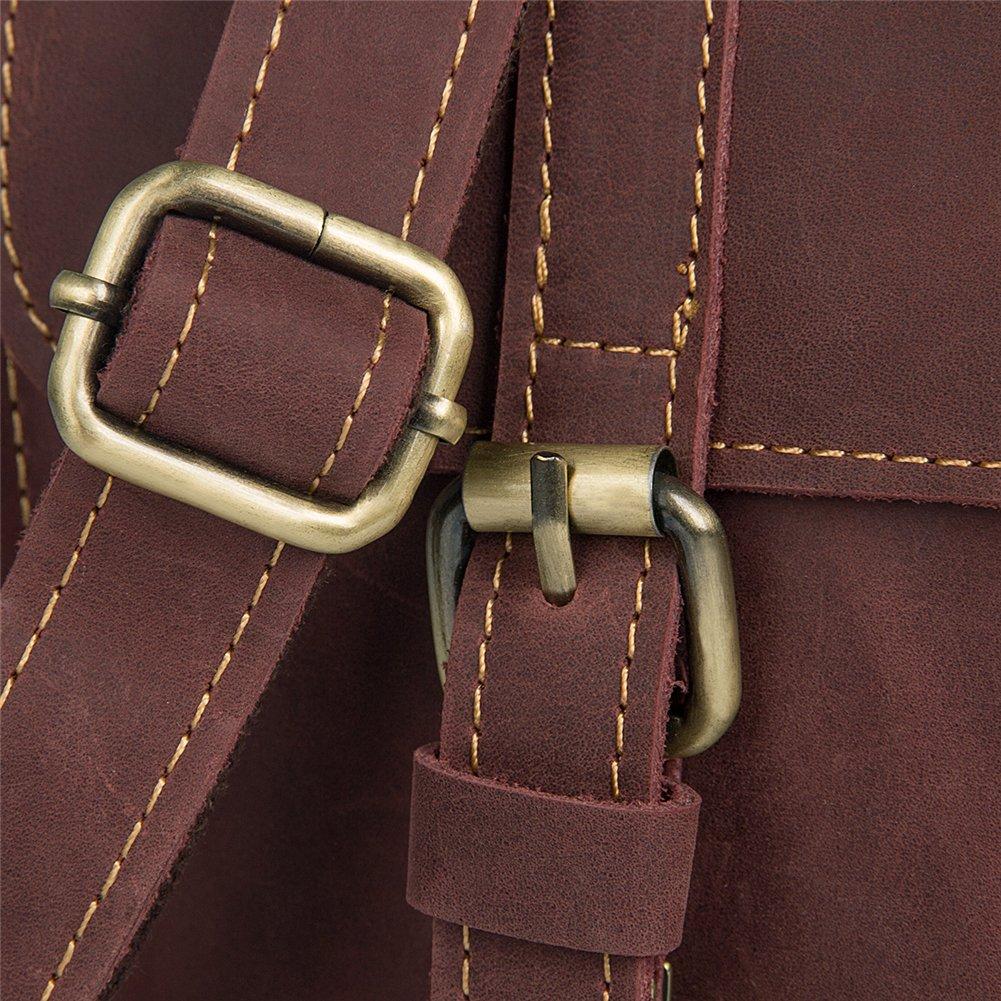 Genda 2Archer Mens Genuine Leather Briefcase Shoulder Messenger Tote Bag