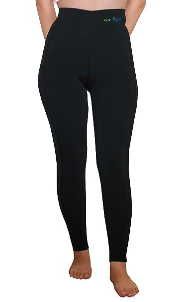 0ea70cf1e Women Swim Tights Full Legs High Waist UV Protective Clothing Black UPF50+  (XS)