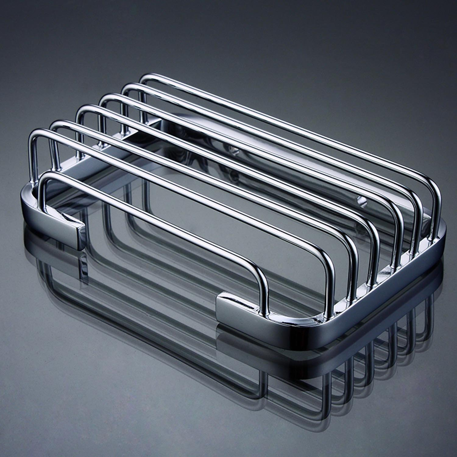 Amazon.com: ThinkTop Soap Dish for Shower Solid Brass Chrome ...