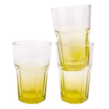 3 Er Set Glaser Bunt Cocktail Longdrink Glas Wasserglas Trinkglaser