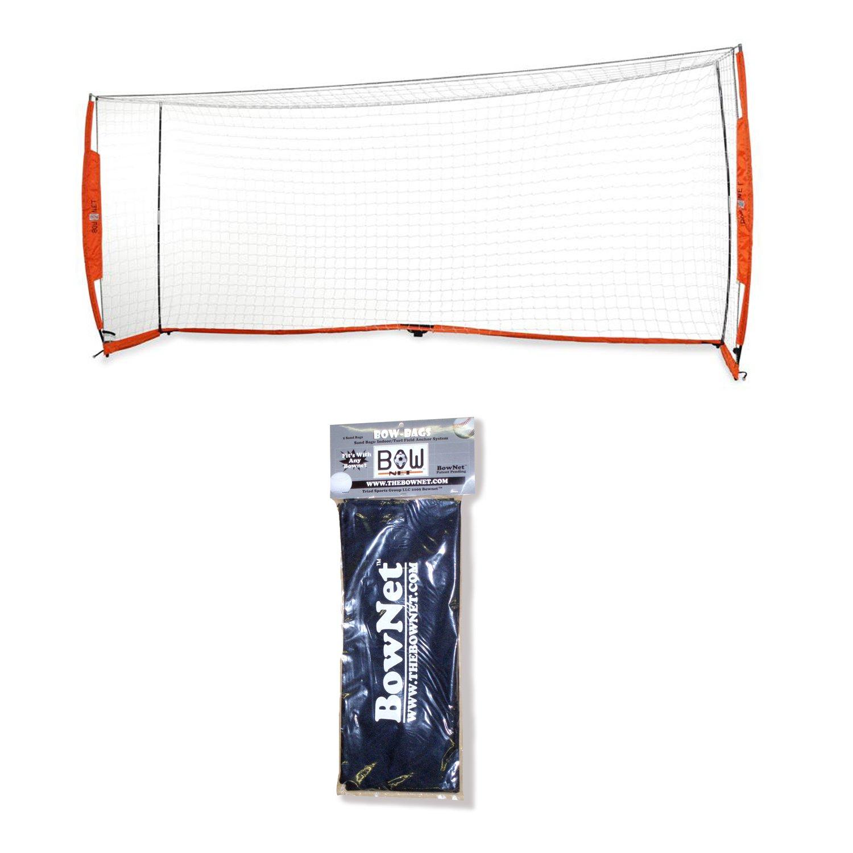 Bownet 7 x 16 Portable Soccer Goal Bundle with Bownet Sand Bags - 2 Pack Set