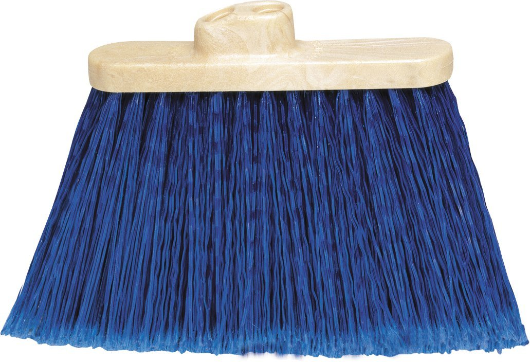 Carlisle 3687314 Flo-Pac Wide Duo Sweep Polypropylene Flagged Light Industrial Broom Head, 7'' Trim x 13'' Width Bristle, 9'' Overall Length, Blue (Pack of 12)