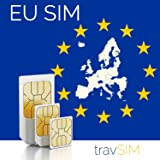 Western Europe (Incl France, Germany, Netherlands, UK) 9GB Prepaid Fast Internet Data SIM 42 Countries Instant Connection 30 Day Plan (3000 min free within 48 Countries & Territories incl EU)