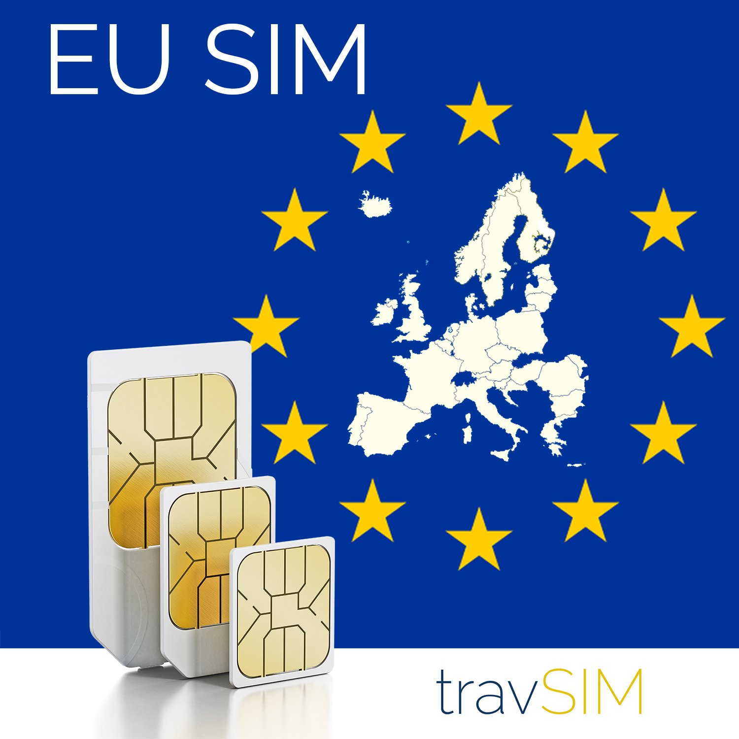Northern Europe (Incl Denmark, Finland, Iceland, Norway, Ireland, Sweden, UK) 9GB Data SIM 42 Countries Instant Connection 30 Day Plan (3000 min free within 48 Countries & Territories incl EU) by travsim