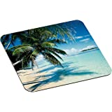 "3M Precise Mouse Pad with Non-Skid Foam Back, Enhances the Precision of Optical Mice at Fast Speeds, 9""x8"", Fun Beach Design (MP114YL)"