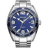 NEYMAR 300m Men Japanese Quartz Movement Ultra Thin Sport Watch with Sapphire Glass Stainless Steel Strap