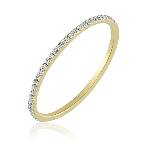 Amazon Com Balluccitoosi Eternity Ring 14k Gold Diamond Band