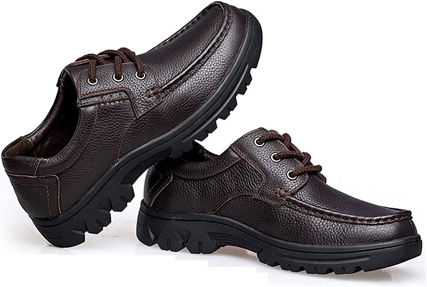 NiNE CiF Mens Leather Shoes Casual Work Shoes