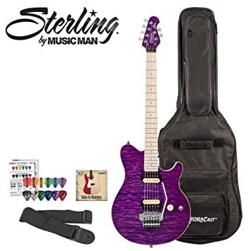Sterling By Music Man Ax40d Electric Guitar Kit In Trans Purple