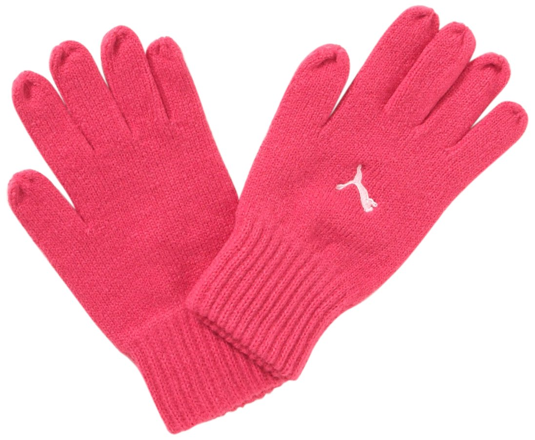 PUMA Fundamentals Knitted Gloves Pink Small