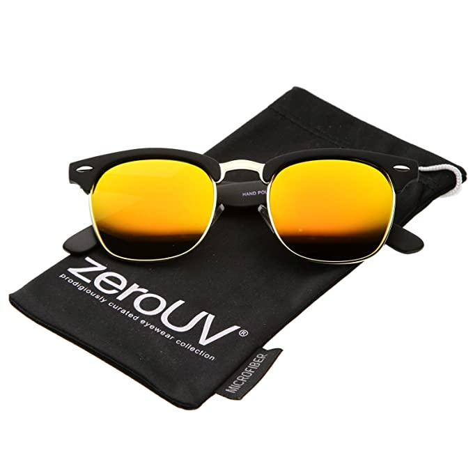 Amazon.com: zeroUV – Espejo Polarizado Lente Media Frame ...