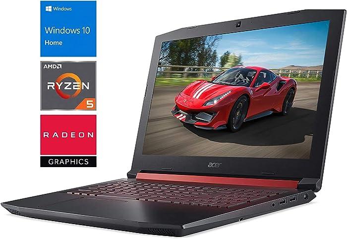 """Acer Nitro 5 (NH.Q4TAA.001) Gaming Laptop, 15.6"""" FHD Display, AMD Ryzen 5 2500U Upto 3.6GHz, 8GB RAM, 1TB HDD, AMD Radeon RX 560X, HDMI, Card Reader, Wi-Fi, Bluetooth, Windows 10 Home"""
