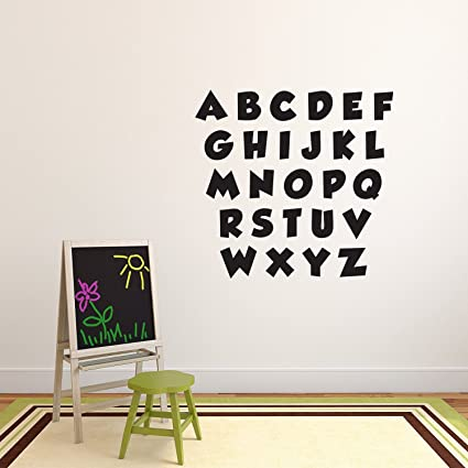 Amazon.com: Set of Abc\'s Alphabet Letters - Educational Vinyl Wall ...